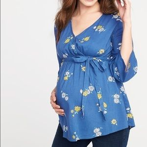 Old Navy Maternity Floral Tie Back Top